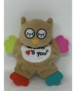 Cribmates Plush Owl Teether Whoo Loves You Soft Stuffed Crinkle Body Bab... - $9.99