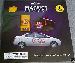 1 Trick or treat Halloween Magnet for car NEW Bonanza