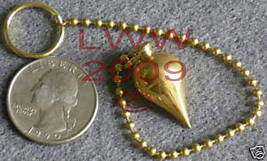 Yellow Brass Scrying Pendulum with Split Ring New Wicca - $19.75
