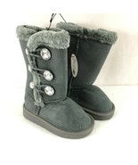 Chatz by Chatties Toddler Girls Winter Boots Faux Suede Faux Fur Gray Si... - $19.34