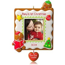 Hallmark 2014 Baby's 1st Christmas One Cute Cookie Photo Holder Ornament - $20.57