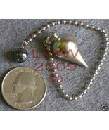 Silver Scrying Pendulum w/ hematite bead Wicca New - $19.85