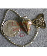 Silver Scrying Pendulum triquetra charm Wicca New - $19.85