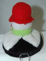 Carrie Olsen Garrard Snowman Plush Holiday Attachable Coasters Drink Wear 2 Set image 3