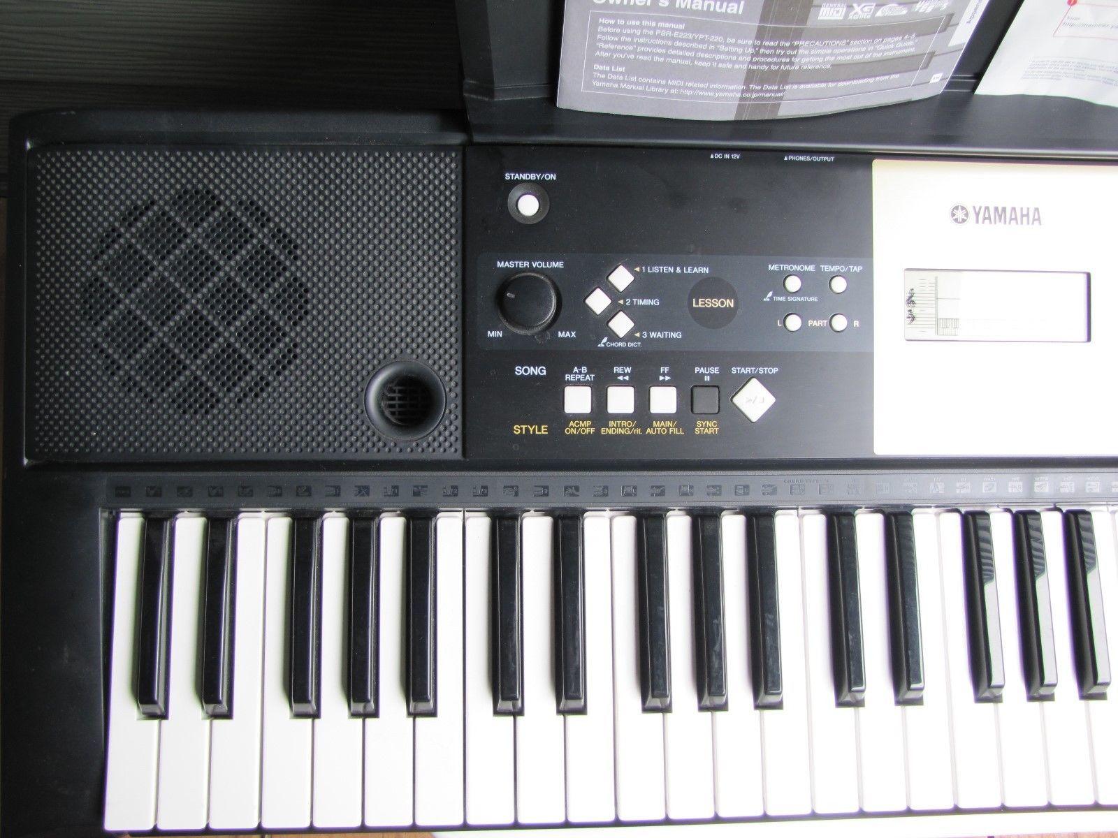 yamaha electronic keyboard model ypt 220 iob and 50 similar items rh bonanza com Manual Guide Furnithure Manual
