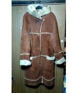 Rare ArmaDis GENUINE LAMB FUR Shearling Leather Designer Coat Jacket Hoo... - $240.00