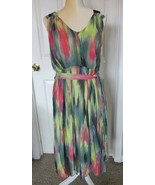 SIMPLY VERA Vera Wang Multicolor Lined Scarf Hem Dress w/Pockets Size L - $24.99