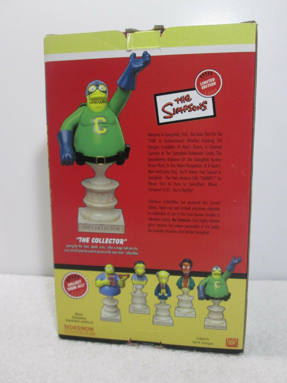 Simpsons The Collector Polystone Bust Limited Edition 419/1000 - Sideshow 2003