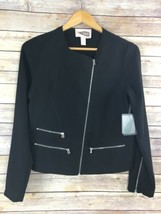 Forever 21 Top XS Black Moto Asymmetrical Zipper Shirt New U31 - $12.09