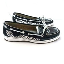 Sperry Top Sider 7.5 Patent leather zebra pattern sequin boat shoes women - $22.20