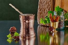Traditional Turkish Greek Hammered Copper Coffee Pot Ibrik Briki Thick C... - $41.92