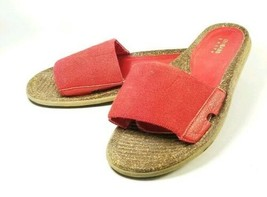 "GH Bass Earth Women's Slide Sandals Sz 8M Red ""Applause"" (sb17ep) - $19.99"