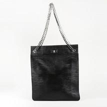 c4c7a0dd7a Givenchy NWT Black Vegetal Leather Embossed Lizard Shark Shoulder Bag SZ   Large -  1