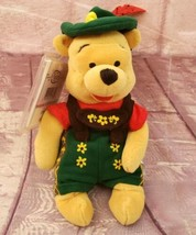 "Disney Store Octoberfest Winnie the Pooh 8"" Beanbag Plush Vintage - $9.49"