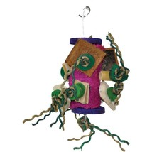 A&e Cage Assorted Java Wood Fun Spongy Bird Toy 6x7 In - £24.43 GBP