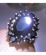 Haunted RING ALIGN ENERGIES INCREASE POWER MAGICK Spell 925 ONYX Cassia4 - $57.77