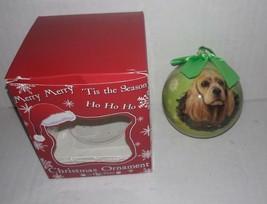 Cocker Spaniel E&S Pets Holiday Christmas Ornament Ball Shatterproof NEW... - $4.43
