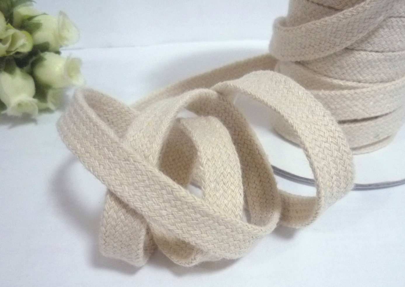 12mm Half inch Rope 100/% Cotton Braided all Size Roll 30 Meter Ecru
