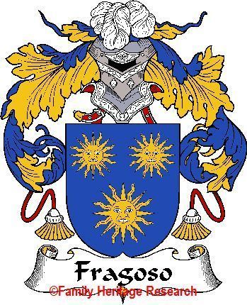 FRAGOSO Spanish Coat of Arms Print FRAGOSO Family Crest Bonanza