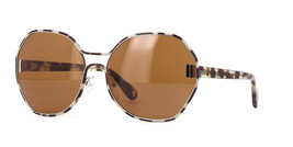 Prada Oval Sunglasses PR53TS UAO6N0 63MM | Gray Havana Frame | Brown Lenses - $148.49