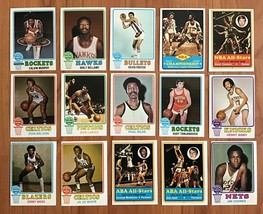 1973-74 TOPPS BASKETBALL CARDs LOT OF 15 DIFF w/ COWENS, BELLAMY, BIBBY - $44.50
