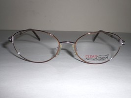 Clearvision Designer Women's Eyeglass Frames Sarah Brown Lilac Clear 51-17-130mm - $20.99