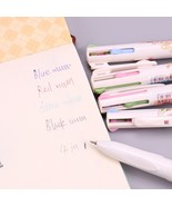 XUES® 4 In 1 Colored Ballpoint Pen Floral Pens Kawaii Stationery Writing... - $1.90