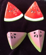Three Sets Vintage Watermelon Salt And Pepper Shakers - $9.90