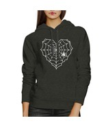 Heart Spider Web Dark Grey Hoodie - $25.99+