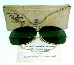 Ray-Ban USA 1960s Vintage B&L Aviator 12k GF RB-3 Wide Decot Shooter Sun... - $326.69