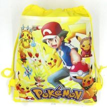Pokemon Pikachu Drawstring Backpack Sling Tote Boys New!  More Character... - $6.25