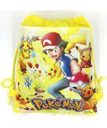Pokemon Pikachu Drawstring Backpack Sling Tote Boys New!  More Character... - $6.25