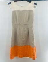Banana Republic Womens A Line Dress Gray Color Block Lined Sleeveless Pe... - $17.63