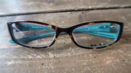 NEW Oakley MACCHIATO Eyeglass Frames 52-15-130mm Tortoise Blue - $69.29