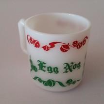 Hazel Atlas Tom and Jerry Christmas Egg Nog Milk Glass Jingle Bells - W1... - $5.45