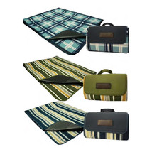3 x Deluxe Water Resistant Picnic Blanket -Green, Light Blue and Dark Blue - $32.71