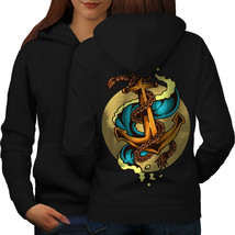 Sea Marine Anchor Fashion Sweatshirt Hoody  Women Hoodie Back - $21.99+