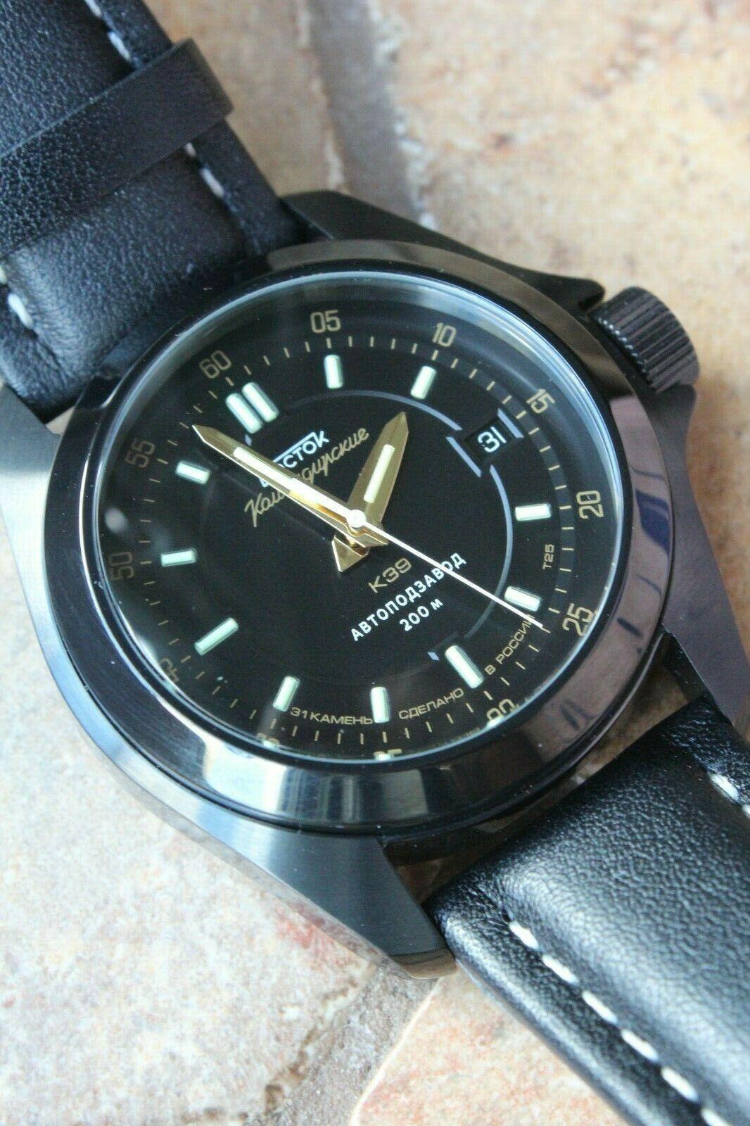 Vostok Komandirsky Russian Mechanical K-39 Military wristwatch 396778