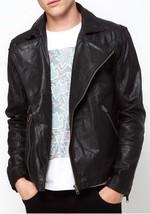 Mens Black  Real Bespoke Handmade Cowhide Black  Genuine Leather Jacket - $118.79+