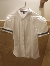 NWOT French Toast Girls White Uniform Shirt Size 14 With Blue Trim On Th... - $7.33