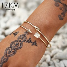 17KM® 3 pcs/set Vintage Gold Color Twisted Bracelet Bangles For Women Fa... - $4.72+