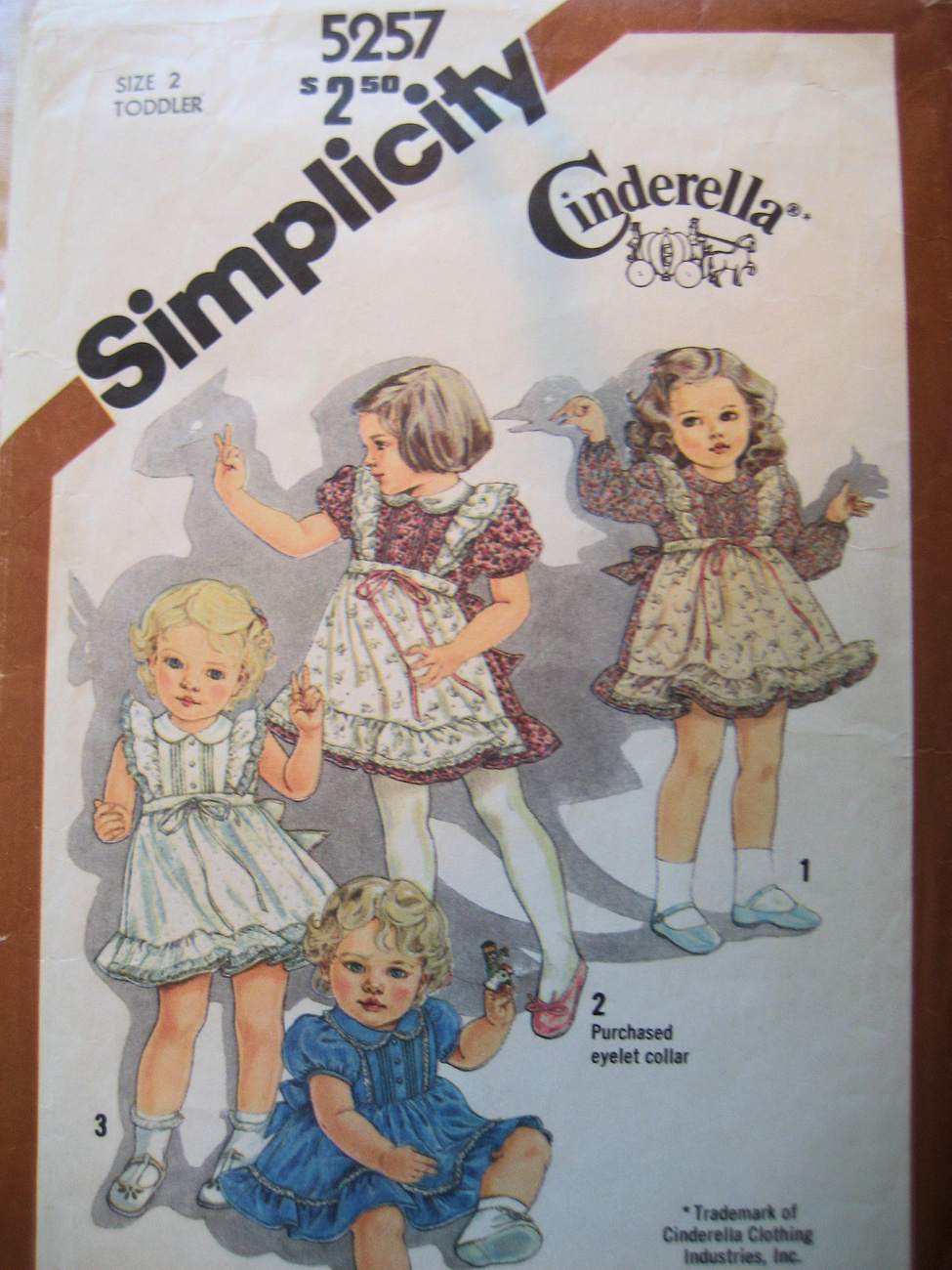 Simplicity 5257 Vintage Pattern Girls 2 Pinafore Dress  Simplicity New Look