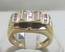 Men's Diamond Ring 14kt Yellow Gold .50ctw size 10 8.7grams A gift for Him Bonanza