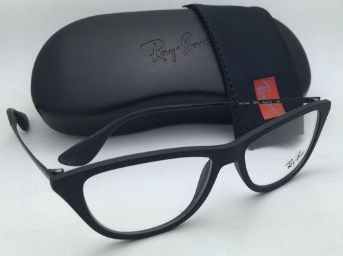 2b4b96d0fc165 New RAY-BAN Eyeglasses RB 7042 5364 54-14 140 Black Rubber Cat Eyes