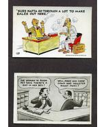 Lot 7 Vintage Novelty Postcards Jokes 1958 1950s Animals Risque - $9.99