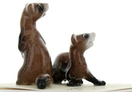 Hagen Renaker Wildlife Ferret Friends Ceramic Figurine Set image 8