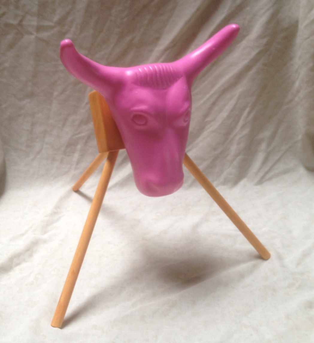 Pink Jr Junior Steer Head Team Roping Rope dummy practice rodeo sm kids New!!