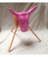 Jr Pink Junior Steer Head Team Roping Rope dummy practice rodeo stand Ne... - $48.51