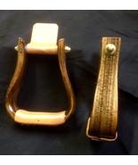 "Rustic Flatbottom wood Nettles saddle stirrups 2"" leather Premier 6 ply ... - $165.36"