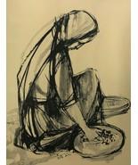 Ruth Schloss Hand Marked/Signed  Print Working Woman Israeli Artist No F... - $151.99